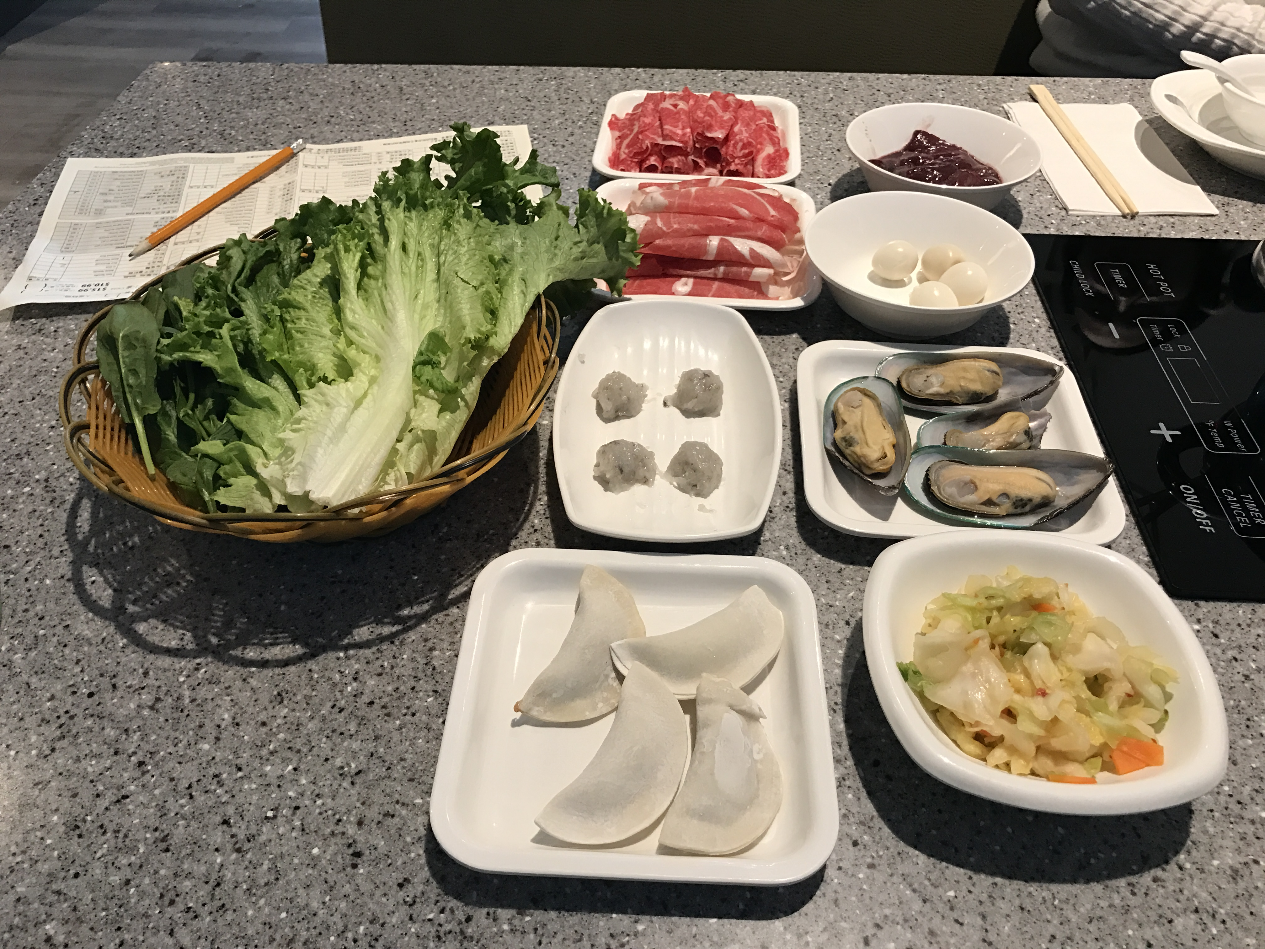 our mongolian hotpot orders
